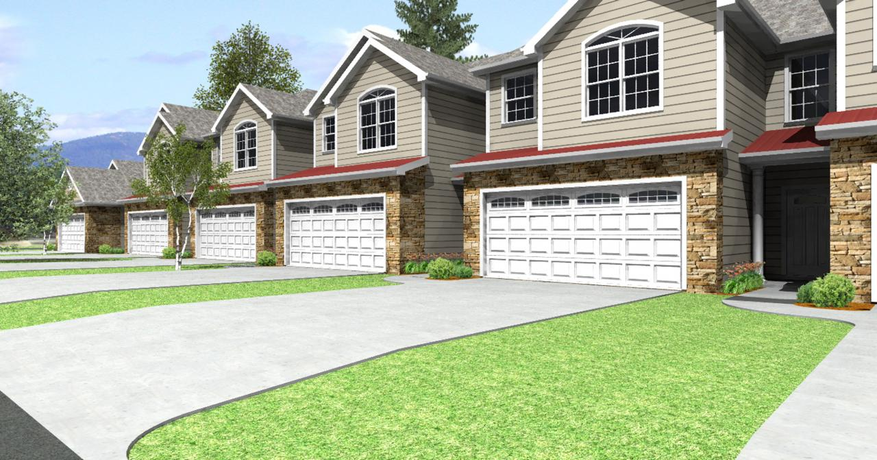 Customized home plans custom townhome design example for Townhouse plans and designs